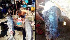 Los pescadores de Mindanao, Filipinas capturaron un pez grande y para su sorpresa se dieron cuenta de que había símbolos extraños en su...
