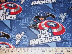 SUPER HEROS Captain America, Batman, Superman, Marvel Fabrics Off the Bolt, Sold by the Half Yard, More is Continuous Your Choice