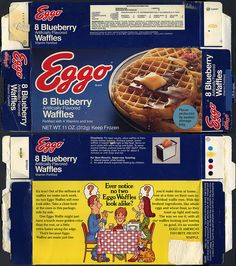 Eggo - Blueberry Waffles box - 1979 | Flickr - Photo Sharing!
