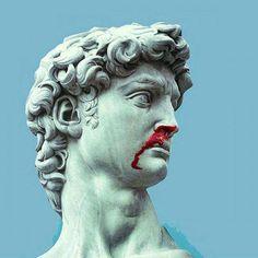 Present Preoccupations of Ancient Statues 7 Archangels Statues # Vinyl Pants, 7 Archangels, Art Du Collage, The Wicked The Divine, The Secret History, Illustration, Greek Gods, Photomontage, Vaporwave