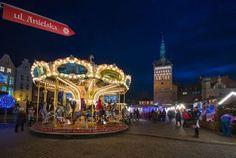 fot. Arkadiusz Zamczała #carousel #lights #street