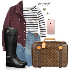 Wish I could head to NYC by sc-prep-girl on Polyvore featuring polyvore, fashion, style, J.Crew, American Eagle Outfitters, Tory Burch, Louis Vuitton and Kate Spade