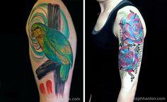 Artista cria tatuagens bonitas que são tudo menos tradicionais. - TendX