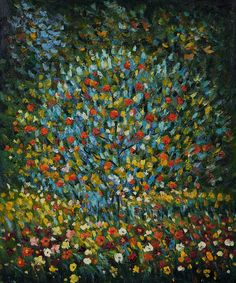 """Gustav Klimt's colorful work of art """"Apple Tree I"""" has always been a fan favorite. Hand painted reproductions of this bestseller come in a variety of sizes at overstockArt.com. #giftguide"""