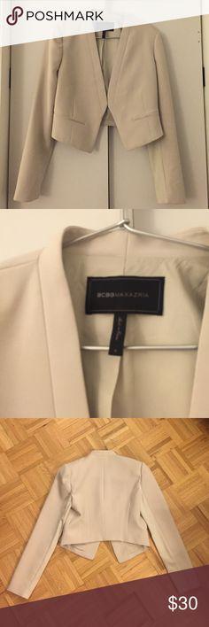 BCBGmaxazria Beige Jacket / Blazer Worn once for the interview. It's basically new! BCBGMaxAzria Jackets & Coats Blazers