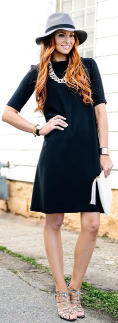 Black Swing Dress Inspiration Outfit