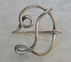 Antique Silver Plate Napkin Holder D Letter – Portatovaglioli a forma di lettera D – € 49 | Antichità La Ginestra