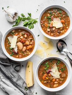 With a variety of colors, fresh vegetables, and vibrant herbs and spices make this Vegetarian 15 Bean Soup flavorful, filling, AND incredibly good for you.