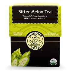 Organic Bitter Melon Tea  Kosher Caffeine Free GMOFree  18 Bleach Free Tea Bags -- Click image for more details.