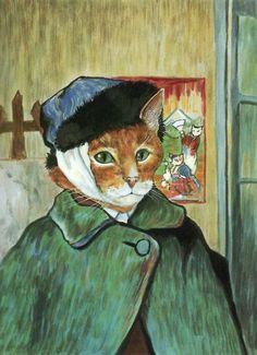 ünlü-tabloların-kedili-versiyonları-kedi-sanat-susan-herbert
