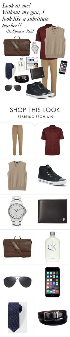 """""""Spencer Reid: Criminal Minds"""" by beck-bows-and-ribbons ❤ liked on Polyvore featuring Joseph, Topman, Lands' End, Converse, Gucci, Victorinox Swiss Army, Kenneth Cole Reaction, Calvin Klein, Off-White and Dockers"""