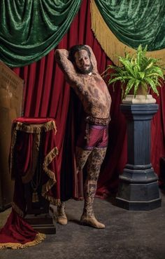 Shannon Holtzapffel as Prince Constantine, The Tattooed Man in The Greatest Showman (2017)