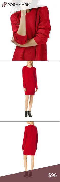 🎄MK DRESS FOR XMASS!! GORGEOUS RED MK This is gorgeous red MK Michael Kors Sweater Dress, New With Tags! This is so soft and beautiful you will be wrapped up like a gift at the family dinner! 🎅🎁this is size small will fit Med in my option. In new never worn condition. Please make an offer! Be beautiful, sexy and  comfortable all in one this hoilday  season! 🎄🎁 Michael Kors Dresses Midi
