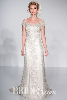 "Maggie Sottero - Spring 2016. ""Riviera"" beaded short sleeve silk wedding dress, Maggie Sottero"