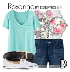 """Roxanne"" by leslieakay ❤ liked on Polyvore featuring Accessorize, Betsey Johnson, Bling Jewelry, Uniqlo, Wrap, H&M, Converse, disney, disneybound and disneycharacter"