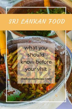 Traveling to Sri Lanka? Here's what you need to know about Sri Lankan food! Click on pin to learn the secrets of Sri Lankan cuisine!