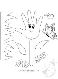 Idea Biglietto Festa della Mamma con fiore   Lavoretti Creativi