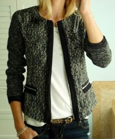 Love how interesting this blazer is but it's still classy