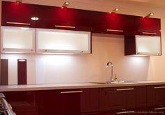 Modern Red Kitchen Cabinets #18 (Kitchen-Design-Ideas.org)