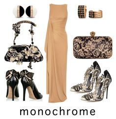 """""""Patterned Monochrome"""" by airrazor23 ❤ liked on Polyvore featuring Philosophy di Alberta Ferretti, Mary Frances Accessories, Michael Kors, Oscar de la Renta, Chesca, Bling Jewelry and monochrome"""