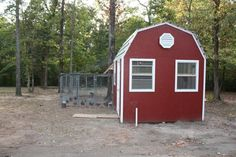 I love her chicken coop! I'm going to convert one of our large storage sheds into a coop like this.  She includes the plans, too.