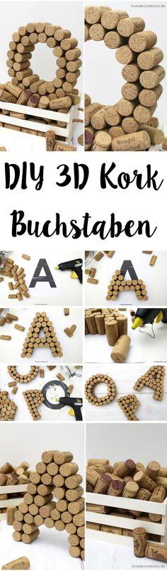 DIY 3D Kork Buchstaben | DIY 3D Cork Letter