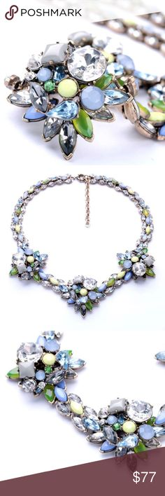 """🚨FLASHSALE 🆕JC040 hypoallergenic, lead & nickel free   20"""" with 2"""" extender   faux gemstones & crystals   price firm unless bundled OJDC Jewelry Necklaces"""