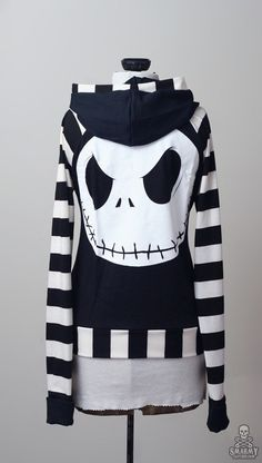 stripe Nightmare Before Christmas Jack by smarmyclothes on Etsy