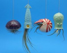 4 small Air Planters Octopus Garden Collection door CindySearles