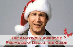 The Amazingly Awesome Pre-Holidays Declutter Guide. The idea is to do a light declutter of some key areas of your home now, in preparation for the influx of the Holiday G's. That is, Gifts and Guests. Christmas Planning, Homekeeping, Christmas Activities, Simple Living, Getting Organized, Have Time, Homemaking, Declutter, Clean House