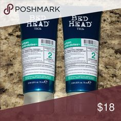 Bed Head Shampoo and Conditioner ‼️Shampoo: Hydrates dried-out strands, protects colour from fading, and prevents pesky split ends. Help moisture-deprived hair to the ultimate recovery. ‼️Conditioner: Perfect for dry, damaged tresses that need a moisture hit. Moisturizes for major softness and protects from thermal damage. Prevents pesky split ends. BedHead Other