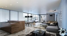 Hammer House : Soggiorno minimalista di Aleksandr Zhydkov architect