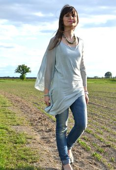 The minty blouse  , Kontatto in Camicie / Bluse, Cycle in Jeans, Tory Burch in Scarpe basse, DoDo in Gioielli