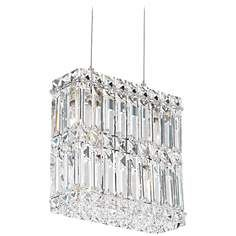 """Schonbek Quantum Silver 9"""" High Swarovski Crystal Chandelier"""