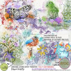 Awesome Layered Artsy Transfers
