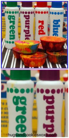 Homemade Crayons-Tie Dye Style