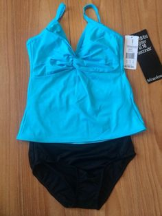 Miraclesuit 10 DD Cup Two Piece Swimsuit Tankini Underwire Adjustable Straps NWT