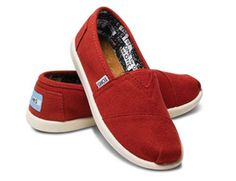 44b0b3f9bd46a Just ordered my kids back to school shoes!Take a look at this 2012 Edition  Red Canvas Classics - Youth by TOMS on today!