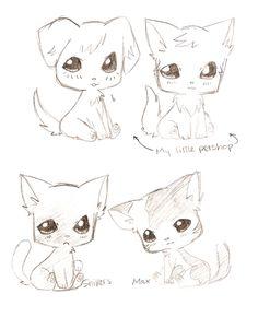 An example of Chibi animals! Kawaii Chibi, Anime Chibi, Manga Anime, Cute Illustration, Character Illustration, Manga Drawing, Manga Art, Cute Anime Coupes, Identity Art