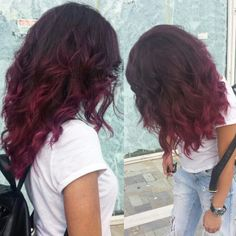 Red violet ombre hair with wella professional - koleston perfect
