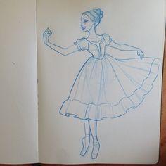 Lovely #animation #design #visualdevelopment #girl #sketch #pretty #dress #ribbon #graceful #art #dance