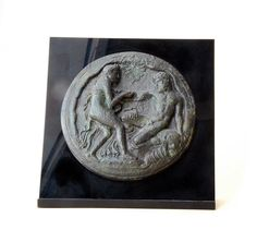 Representation of Hercules and a Nymph in Copper by GreekMythos, $210.00