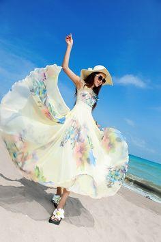 オシャレなワンピ風☆ COOLな花柄ロング♪ - ロングドレス・パーティードレスはGN|演奏会や結婚式に大活躍!