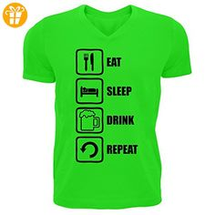 Eat Sleep Drink Repeat Funny Black Graphic Men's V-Neck T-shirt XX-Large (*Partner-Link)