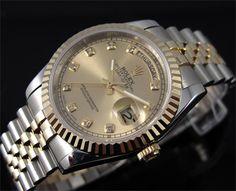 Real 1mm 18k Gold Plated Rolex Day-Date Swiss ETA 2836 Replica Watch