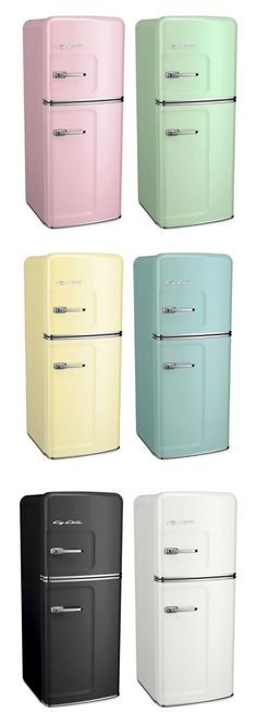 Colors, Colors, Colors Galore! Designing the kitchen of your dreams?  The Big Chill Slim Refrigerator comes in over 200 custom color options, alongside many of our other classic appliances.