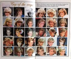 The Variety of Princess Diana's Short and Chic Style hairdo.