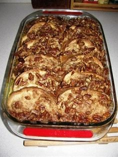 For Christmas am, Paula Deens praline french toast casserole - make the night before - super simple  yum!  Christmas morning breakfast!