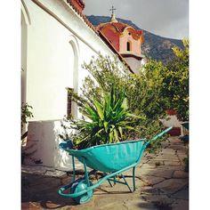 #monastery #agia_anastasia #Thessaloniki #Greece #garden #cross #dome #turquoise #wheelchair  #plants #pavement #fujifilm_xe2