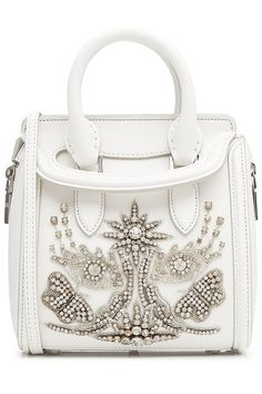 Leather Small Heroine Satchel with Embellishment | Alexander McQueen